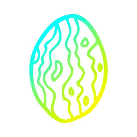 cold gradient line drawing of a cartoon almond nut