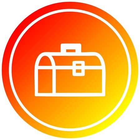 tool box circular icon with warm gradient finish 向量圖像