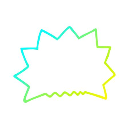 cold gradient line drawing of a cartoon big  bang explosion 일러스트
