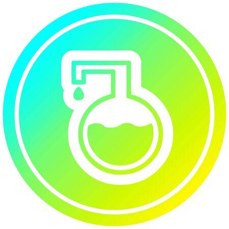 science experiment circular icon with cool gradient finish Illusztráció