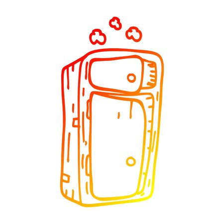 warm gradient line drawing of a cartoon dusy cabinet 스톡 콘텐츠 - 128612076