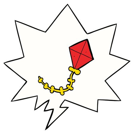 cartoon kite with speech bubble