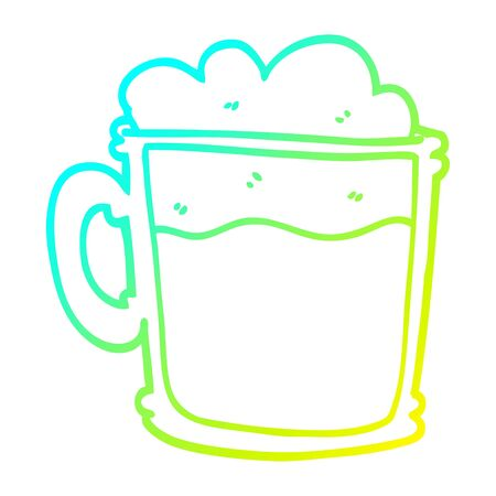 cold gradient line drawing of a cartoon cup of blackberry Imagens - 128628128