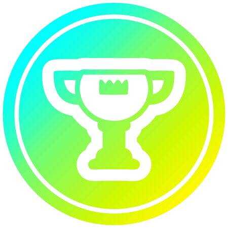 trophy award circular icon with cool gradient finish Banque d'images - 128650002