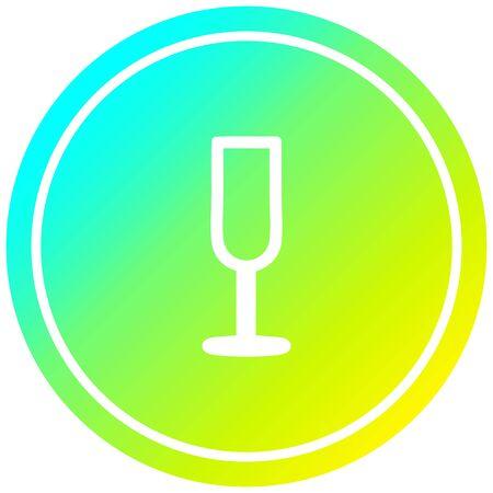 champagne flute circular icon with cool gradient finish Standard-Bild - 128747951