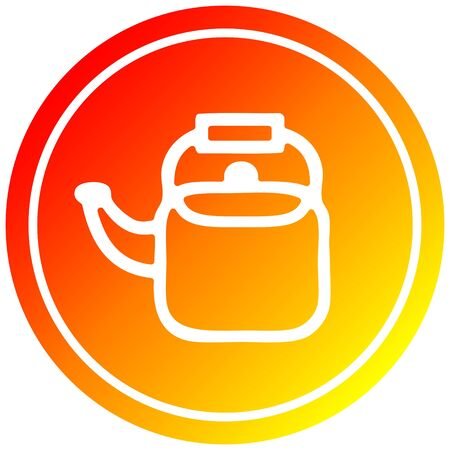 kitchen kettle circular icon with warm gradient finish
