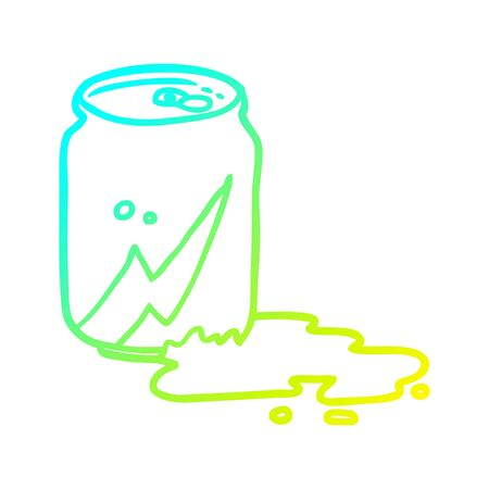 cold gradient line drawing of a can of soda Çizim