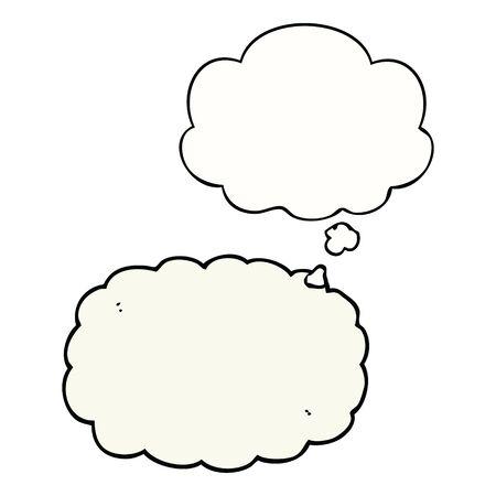 cartoon cloud with thought bubble Illusztráció