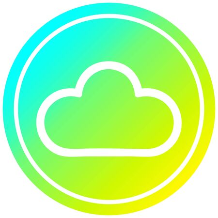 weather cloud circular icon with cool gradient finish