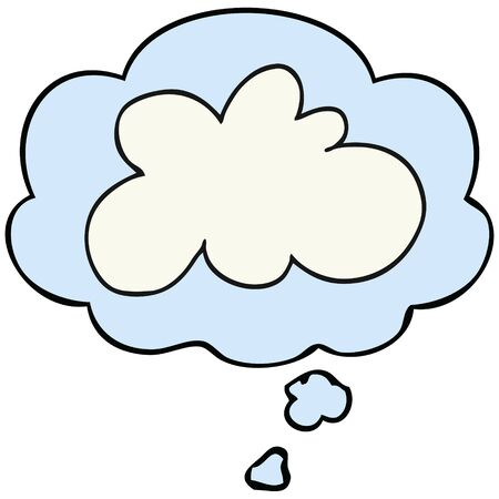cartoon decorative cloud symbol with thought bubble Stok Fotoğraf - 128922130