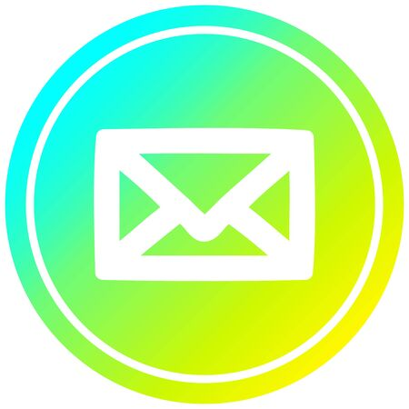 envelope letter circular icon with cool gradient finish