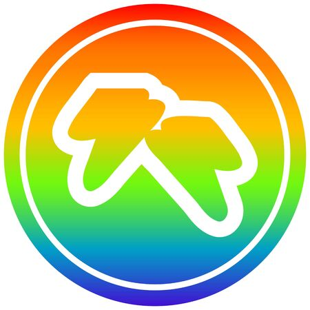 lightning bolts circular icon with rainbow gradient finish 向量圖像