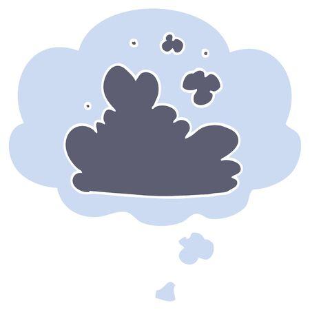 cartoon cloud with thought bubble in retro style Illusztráció
