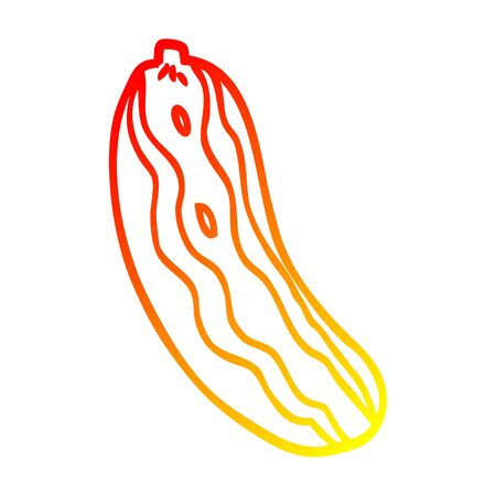 warm gradient line drawing of a cartoon marrow plant