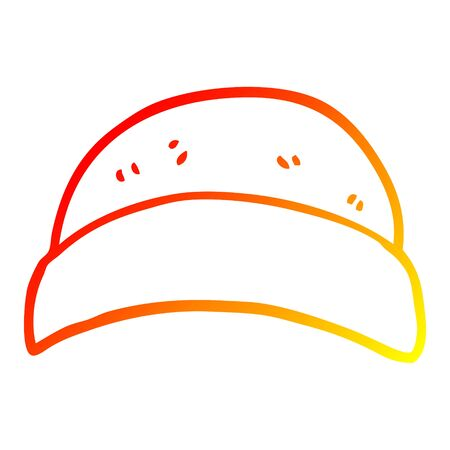 warm gradient line drawing of a cartoon hat