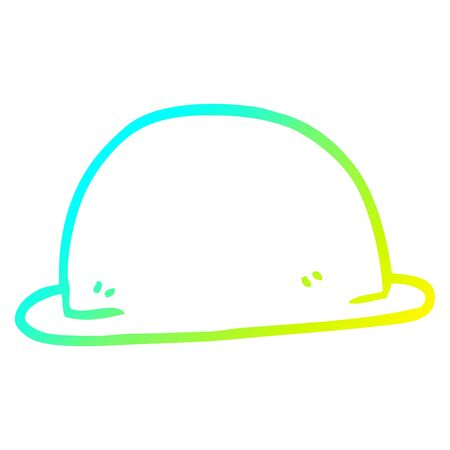 cold gradient line drawing of a cartoon hat