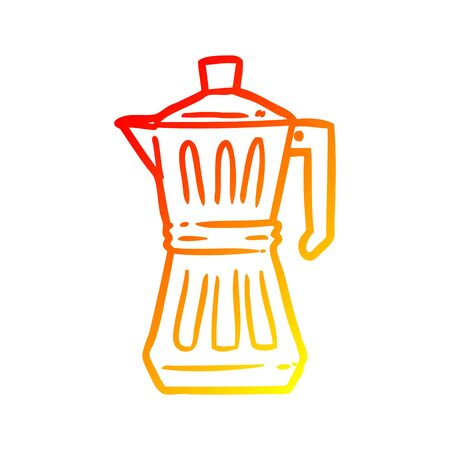 warm gradient line drawing of a espresso maker
