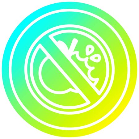 no healthy food circular icon with cool gradient finish