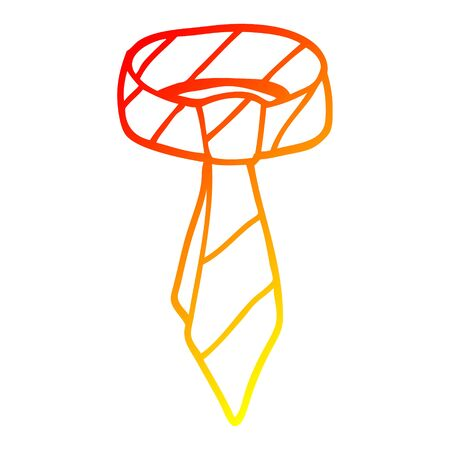 warm gradient line drawing of a cartoon tie