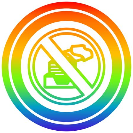 paperless office circular icon with rainbow gradient finish