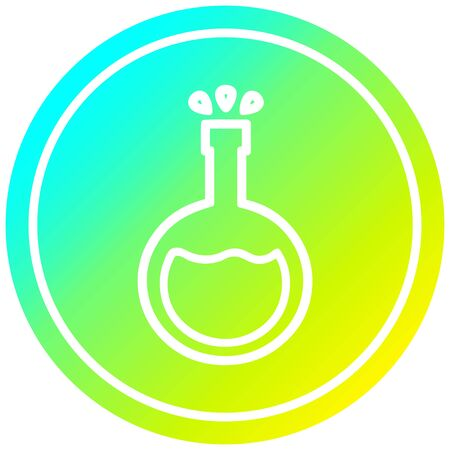 science experiment circular icon with cool gradient finish Ilustração