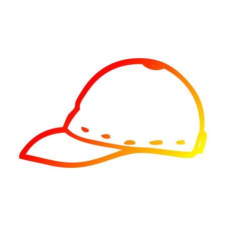 warm gradient line drawing of a cartoon cap