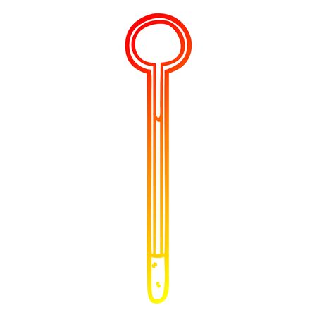 warm gradient line drawing of a thermometer