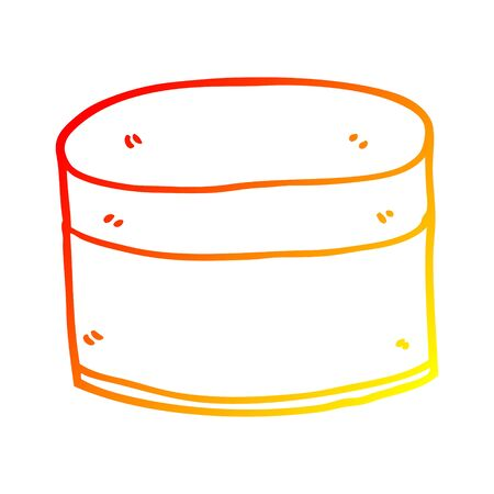 warm gradient line drawing of a cartoon pot