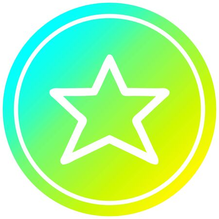 star shape circular icon with cool gradient finish