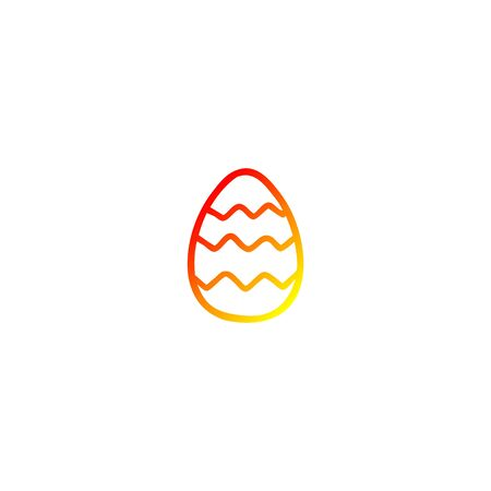 warm gradient line drawing of a cartoon painted easter egg Foto de archivo - 129356937