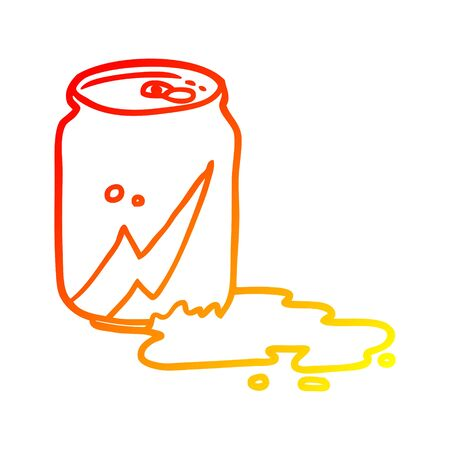 warm gradient line drawing of a can of soda