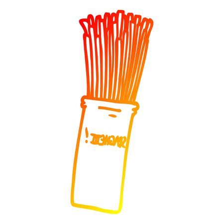 warm gradient line drawing of a cartoon wheat pasta