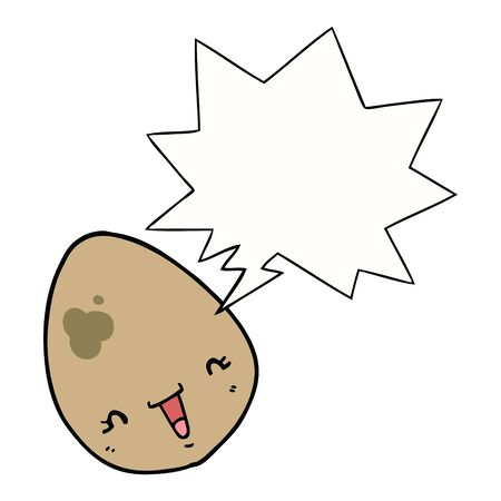 cartoon egg with speech bubble