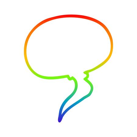 rainbow gradient line drawing of a cartoon speech bubble 写真素材 - 129504165