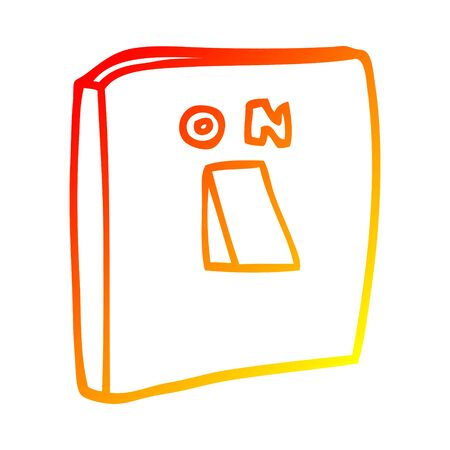 warm gradient line drawing of a cartoon on switch