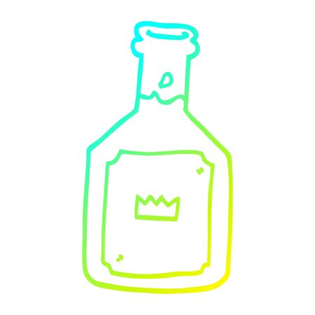 cold gradient line drawing of a cartoon alcoholic drink