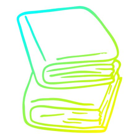 cold gradient line drawing of a cartoon journal books Çizim