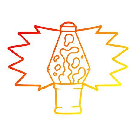 warm gradient line drawing of a cartoon lava lamp Çizim