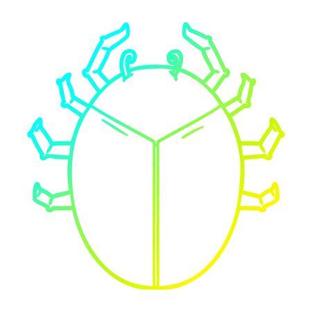cold gradient line drawing of a giant bug cartoon Foto de archivo - 129506148