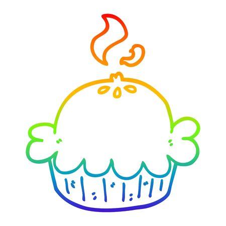rainbow gradient line drawing of a cartoon pie Stock fotó - 129507452