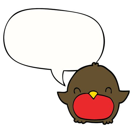 cartoon penguin with speech bubble Illusztráció