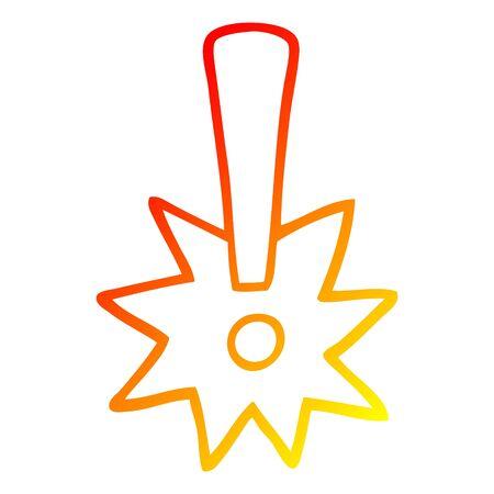 warm gradient line drawing of a cartoon exclamation mark Foto de archivo - 129525940