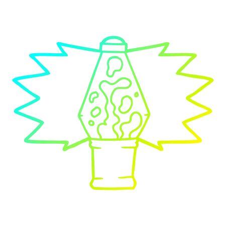 cold gradient line drawing of a cartoon lava lamp Иллюстрация