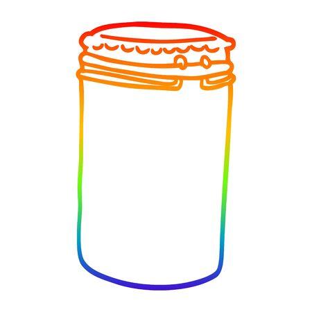 rainbow gradient line drawing of a cartoon storage jar Reklamní fotografie - 129715732