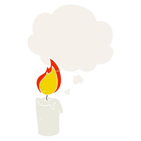 cartoon candle with thought bubble in retro style Stock fotó - 129716139
