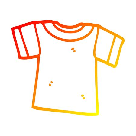 warm gradient line drawing of a cartoon tee shirt