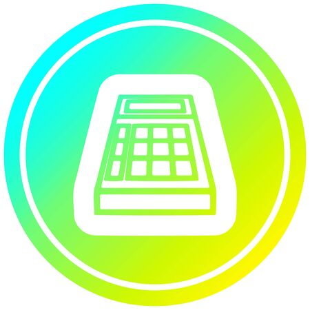 math calculator circular icon with cool gradient finish