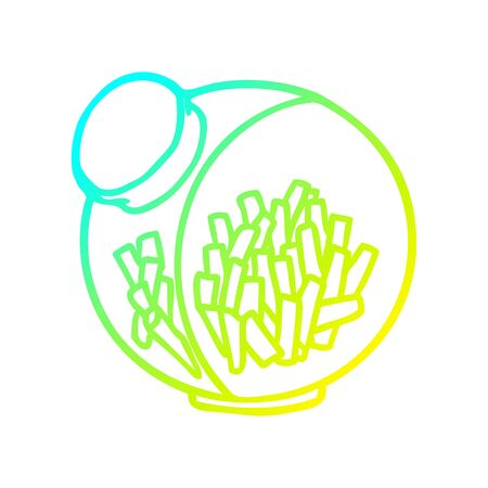 cold gradient line drawing of a candy in a sweet jar  イラスト・ベクター素材