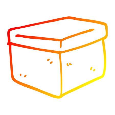 warm gradient line drawing of a cartoon filing box
