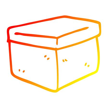 warm gradient line drawing of a cartoon filing box